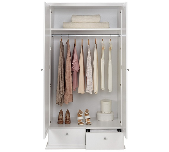 Buy Home Canterbury 2 Door 2 Drawer Large Wardrobe White At Your Online Shop For
