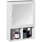 more details on Premier Housewares Wooden Mirrored Cabinet - White.