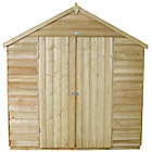 more details on Forest Overlap Apex 7 x 5ft Double Doore Shed with Base.