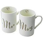 more details on Happily Ever After Mr and Mrs Ceramic Mugs.
