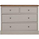 more details on Schreiber Chalbury 2+2 Drawer Chest - Oak.