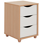 more details on Hygena Berkeley 3 Drawer Bedside Chest - White and Oak.