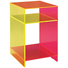 more details on Habitat Ebbie Neon Acrylic Side Table with Storage Shelf