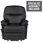 more details on Lars Leather Power Riser Recliner - Black.