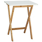 more details on Habitat Drew white and bamboo folding side table