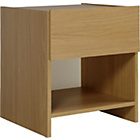 more details on New Denver 1 Drawer Bedside Chest - Oak