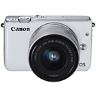more details on Canon EOS M10 Compact System Camera with 15-45mm Lens -White