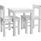 more details on Kids Scandinavia Table and 2 Chairs - White.