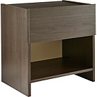 more details on New Denver 1 Drawer Bedside Chest - Black Oak