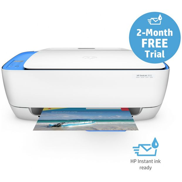 buy hp deskjet 3632 wi fi all in one printer instant ink at your online shop for. Black Bedroom Furniture Sets. Home Design Ideas