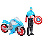 more details on Marvel Titan Hero Series Captain America with Battle Cycle.