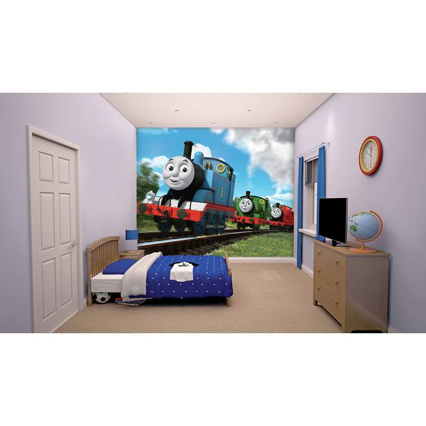 buy walltastic new thomas the tank engine wall mural at. Black Bedroom Furniture Sets. Home Design Ideas