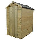 more details on Forest Apex Tongue and Grove 6 x 4ft Shed with Inst.