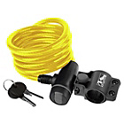 more details on Ventura Spiral Cable Lock with Bracket - Yellow.