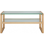 more details on Habitat Herrmann Long Glass Coffee Table