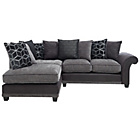 more details on Rhiannon Fabric Left Hand Corner Sofa Group - Charcoal.