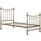 more details on Schreiber Oborne Metal Single Bedframe - Brass/Crystal.