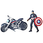more details on Marvel Legends Series Captain America and Motorcycle.