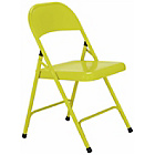more details on Habitat Macadam Yellow Metal Folding Chair