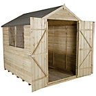 more details on Forest Overlap Apex 8 x 8ft Double Door Shed with Base.