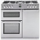 more details on Belling DB4 90DFT Dual Fuel Range Cooker-Steel Professional.