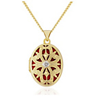 more details on 9ct Gold Plated Sterling Silver Diamond Set Locket Pendant.
