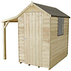 more details on Forest Overlap Apex 4 x 6ft Shed with Lean-to and Base.