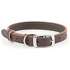more details on Heritage Diamond Brown Leather Dog Collar - Small.