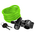 more details on Ventura Spiral Cable Lock with Bracket - Green.