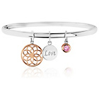 more details on 9ct Rose Gold Plated and Sterling Silver CZ Bangle.