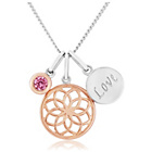 more details on 9ct Rose Gold Plated and Sterling Silver Pink CZ Pendant.