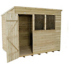 Forest Overlap 8 x 6ft Pent Shed.