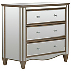 more details on Schreiber Cranbourne 3 Drawer Bedside Chest - Mirrored.