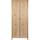 more details on New Scandinavia 2 Door Wardrobe - Pine.