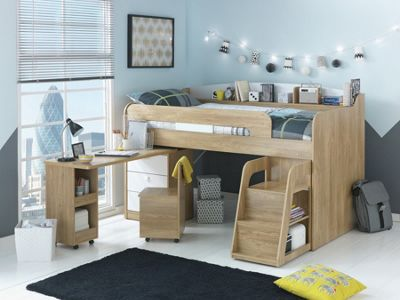 Buy Collection Ultimate Storage Midsleeper Bed - Wood ...