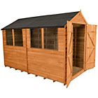 more details on Forest Overlap Apex 6 x 10ft Double Door Shed.