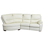 more details on HOME Sorrento Leather Manual Recline Left Corner Sofa -Cream