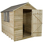 more details on Forest Overlap Apex 6 x 8ft Shed with Base.