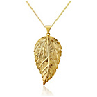 more details on 9ct Gold Plated Sterling Silver Leaf Pendant Necklace.