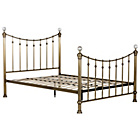 more details on Schreiber Oborne Metal Superking Bedframe - Brass/Crystal.