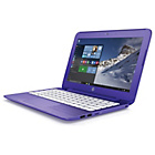 "more details on HP Stream 11"" Celeron 2GB 32GB SSD Laptop - Purple."