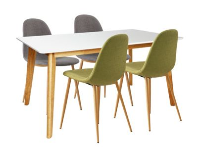 Buy Hygena Beni Dining Table and 4 Chairs GreenGrey at  : 5063877RSETTMBampwid620amphei620 from www.argos.co.uk size 620 x 620 jpeg 24kB