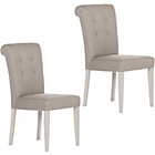 more details on Pair of Schreiber Langton Beech Dining Chairs - Grey.