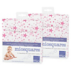 more details on Bambino Mio Muslin Squares Pink Stars - 4 Pack x2.