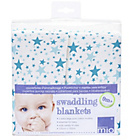 more details on Bambino Mio Swaddling Blankets/XL Muslin Squares Blue Stars.