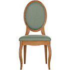 more details on Schreiber Castleton Pair Of Oak Dining Chairs - Duck Egg.