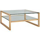 more details on Habitat Herrmann Oak Glass Coffee Table