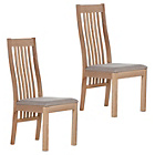 more details on Pair of Schreiber Harbury Slatted Dining Chairs - Oak.
