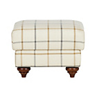 more details on Heart of House Argyll Fabric Footstool - Natural Blue Check.