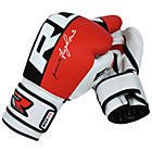 more details on RDX Leather 16oz Boxining Training Gloves - Red.